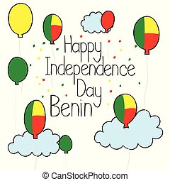 Doodle Happy Independence Day Benin drawing
