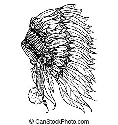 Doodle Headdress For Indian Chief