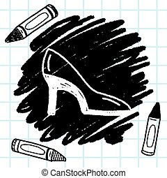 Doodle High-heeled shoes