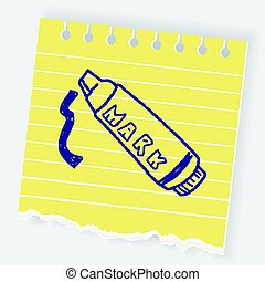 doodle highlighter pen