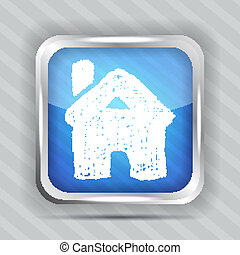 doodle home button icon