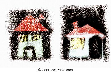 doodle house, hand drawn
