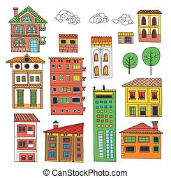 Doodle houses collection