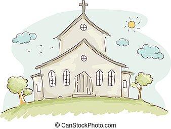doodle, igreja