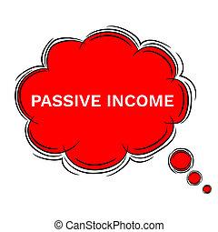 doodle, illustratie, passief, toespraak, inkomen, bel