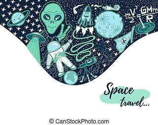 doodle, illustratie ruimte