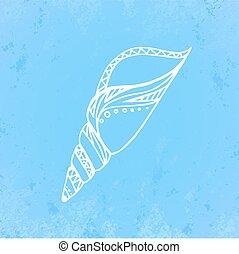 Doodle illustration of seashell