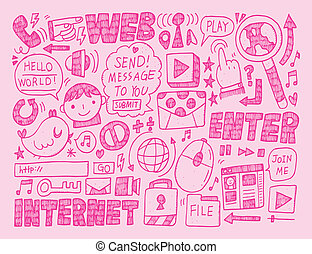 doodle internet web background