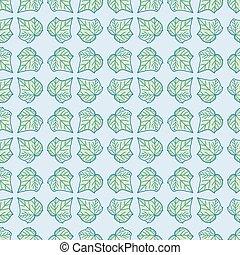 Doodle Ivy Foliage Seamless Pattern Background