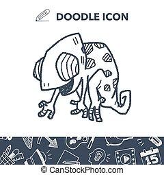 doodle, kameleon