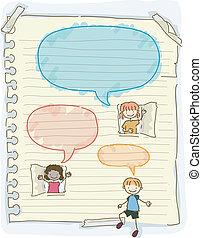 Doodle Kids Speech Bubbles