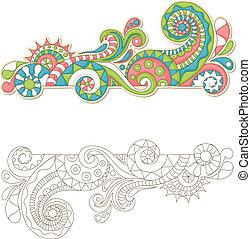 doodle, kleurrijke