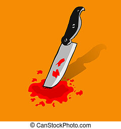 Knife and Blood - doodle Knife and Blood