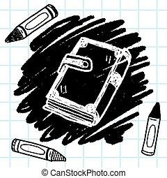 doodle, książka, stary