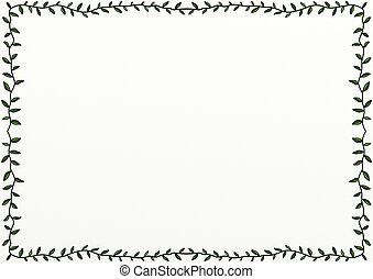 Doodle Leaf Border Decoration - A hand drawn leafy page...