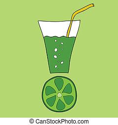 Doodle lime juice