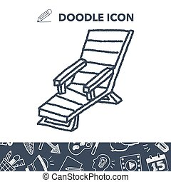 lounge chair clipart. doodle lounge chair clipart