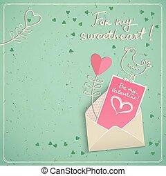 Doodle Love Postcard
