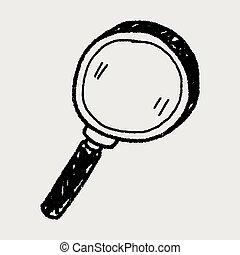 doodle, magnifier