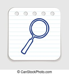 Doodle Magnifying Glass icon