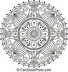 Doodle mandala - Beautiful hand-drawn doodle mandala