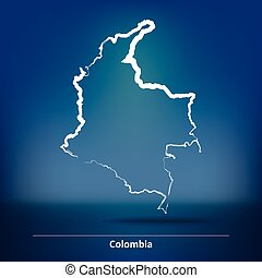 Doodle Map of Colombia