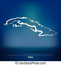 Doodle Map of Cuba