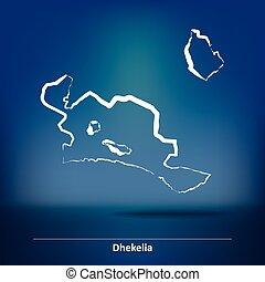 Doodle Map of Dhekelia