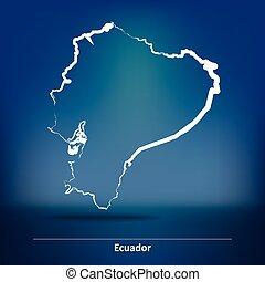 Doodle Map of Ecuador