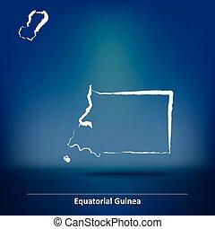 Doodle Map of Equatorial Guinea