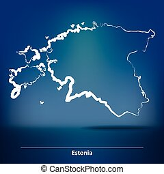 Doodle Map of Estonia