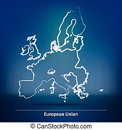 Doodle Map of European Union 2015