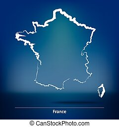 Doodle Map of France