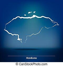 Doodle Map of Honduras