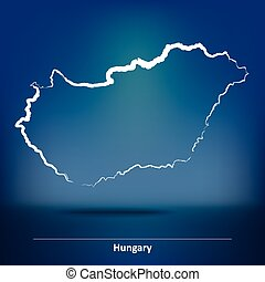Doodle Map of Hungary