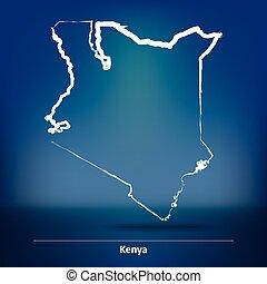 Doodle Map of Kenya