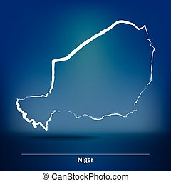 Doodle Map of Niger