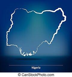 Doodle Map of Nigeria