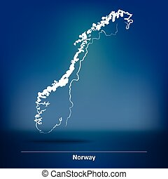 Doodle Map of Norway