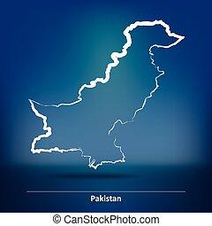 Doodle Map of Pakistan