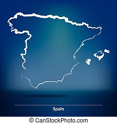 Doodle Map of Spain