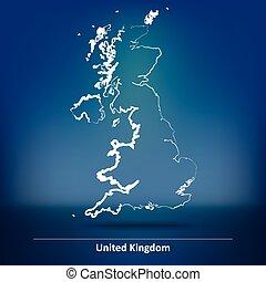 Doodle Map of United Kingdom