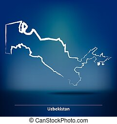 Map uzbekistan namangan 3dillustration Map of vectors