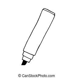 Doodle marker pen. vector hand drawn illustration
