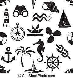 doodle, marynarka, seamless, próbka