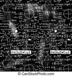 doodle maths blackboard seamless background, texture and...