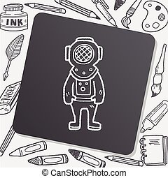 doodle, mergulhador