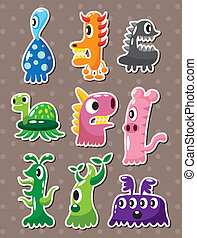 doodle monster stickers