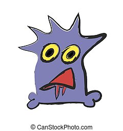 doodle monster, vector illustration