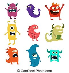 Colorful Toy Cute Alien Monster Vector